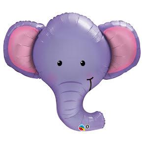Folieballong, Lila Elefant
