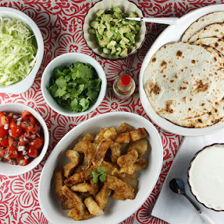 Batter-Free Fish Tacos with Pico de Gallo, Salted Cabbage & Lime Crema