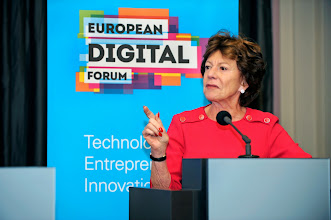 Photo: Neelie Kroes, former vice-president of the European Commission and commissioner for the digital agenda (2009-2014)