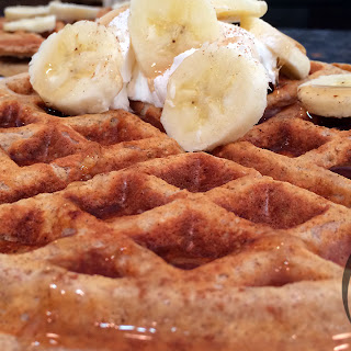 PROTEIN Banana Nut Waffles Recipe (Healthy/Bodybuilding).