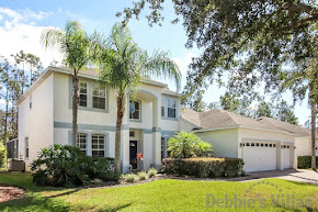 Orlando villa, private pool and spa, woodland view, games room, minutes from Disney