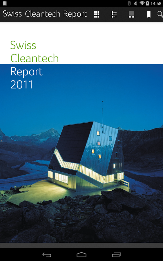 Swiss Cleantech Report – Capture d'écran