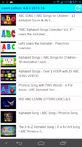 Learn Letters A.B.C 2015