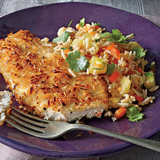 Coconut Chicken with Pineapple Fried Rice.