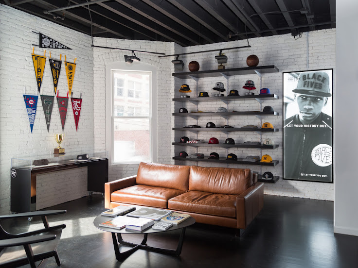 You can't find a nicer place to buy a sports cap than at the 47 Brand flagship store on Newbury St.