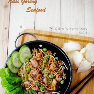 Nasi Goreng Seafood (Indonesian style fried Rice).