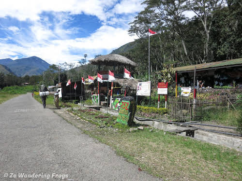 Indonesia. Papua Baliem Valley Trekking. Army Post Control