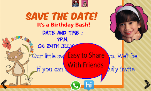 Birthday invitation with photo android apps on google play birthday invitation with photo screenshot thumbnail stopboris Gallery