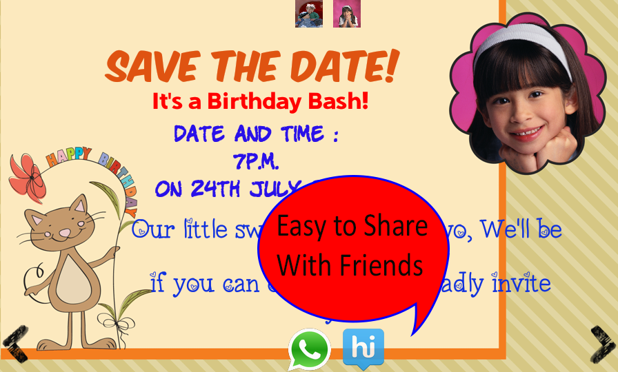 Birthday Invitation With Photo Android Apps On Google Play - Birthday invitation letter in telugu