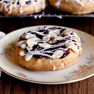 Red, White and Blue Almond Puff Pastries