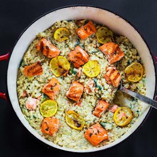Salmon Spinach Artichoke Risotto Recipe