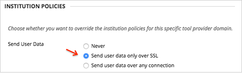Select Send user data only over SSL