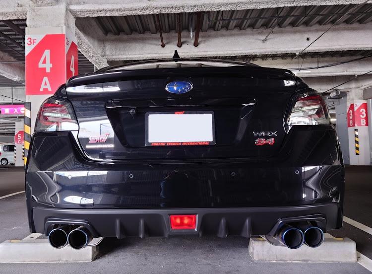 WRX S4 VAGの愛車紹介,ナンバーフレーム取付,sti ナンバーフレーム,再封印,立駐撮影に関するカスタム&メンテナンスの投稿画像2枚目
