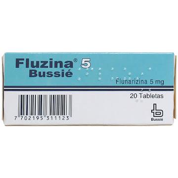 Fluzina 5Mg Tabletas   Caja X20Tab. Bussié Flunarizina