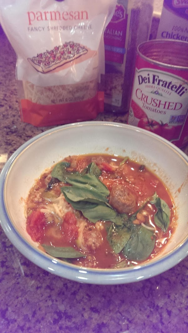 Stir in the spinach and Parmesan cheese just before serving.  To serve, top...