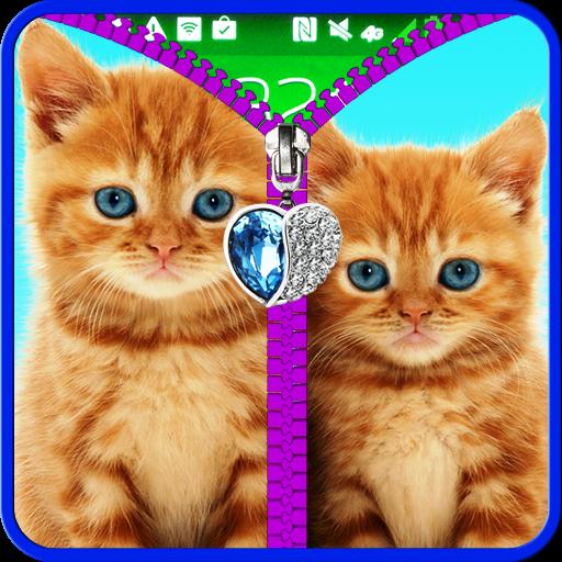 Cats lock screen. Zipper. file APK for Gaming PC/PS3/PS4 Smart TV
