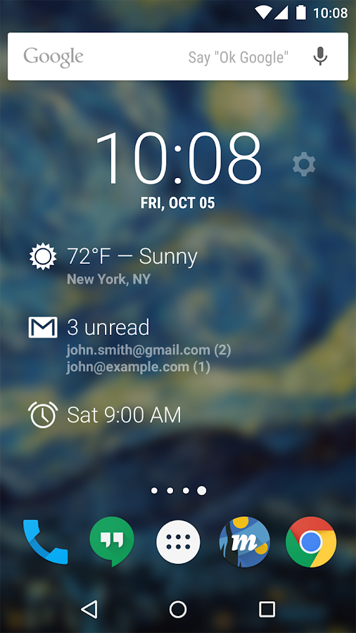 DashClock Widget- screenshot
