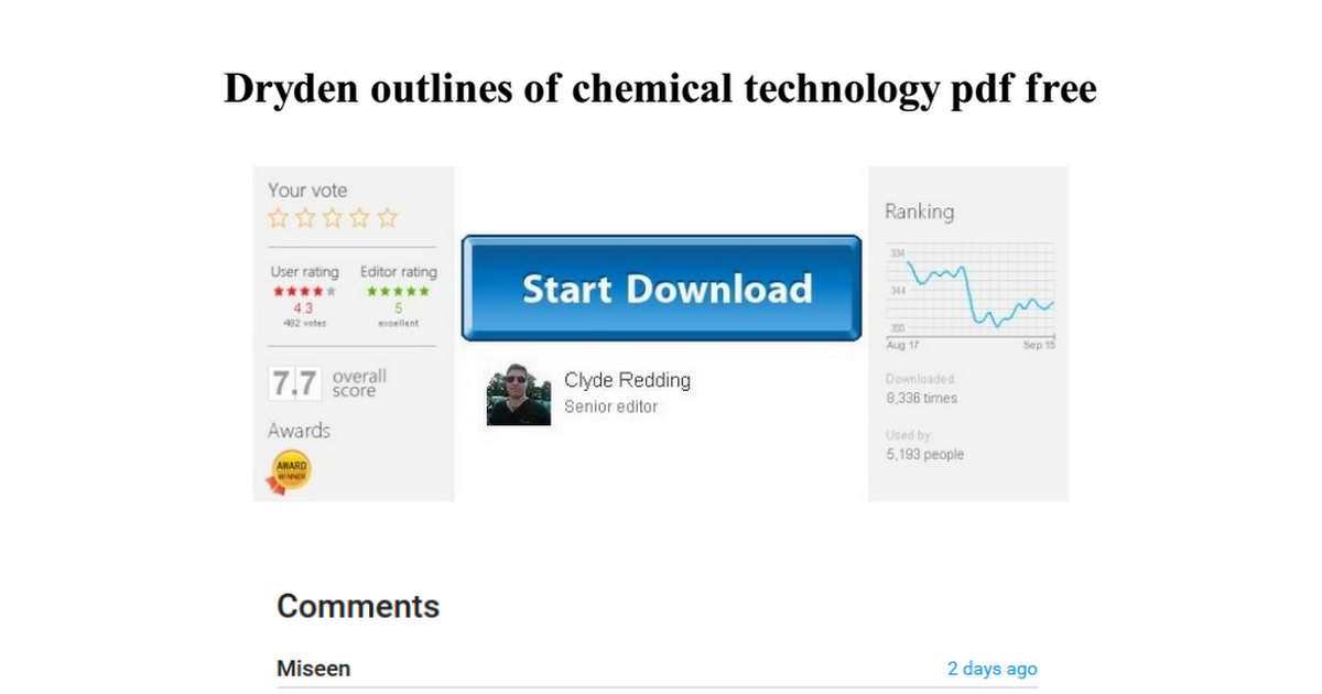 dryden outlines of chemical technology pdf free - Google Drive