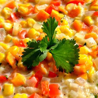 Vegan and Gluten-Free Poblano Corn Chowder.