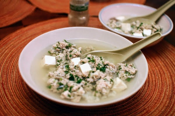 pork and cilantro meatball soup recipe