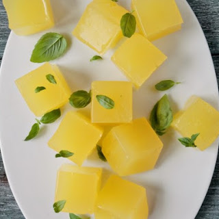 Lemonade Jelly with Basil