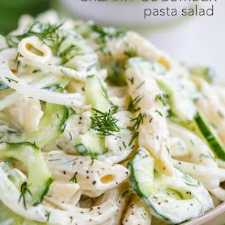 Creamy Cucumber Pasta Salad