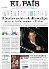 Photo: El desplome socialista da aliento a Rajoy e impulsa el soberanismo en Euskadi y la Guardia Civil rastrea Albacete tras el asesino de la chica de 13 años, en nuestra portada del lunes 22 de octubre de 2012