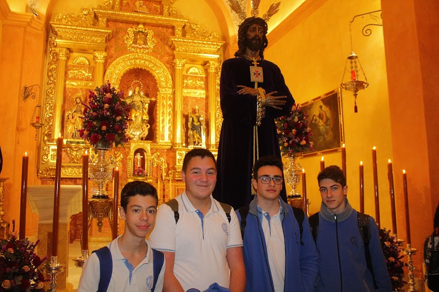 Alumnos de 4º de ESO del Colegio del Milagro.
