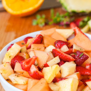 Fruit Salad with Maple and Mint