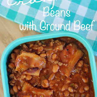 Crock Pot Beans with Ground Beef.