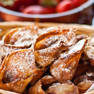 Nutella and Strawberry Wontons.