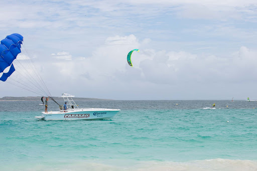 orient-bay-parasail.jpg - Parasailing on Orient Bay. (I've done it, but not this time.)