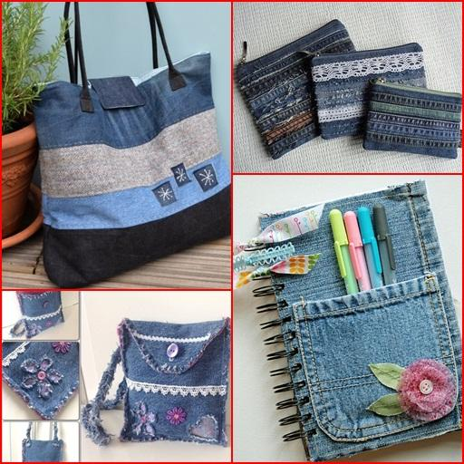 Recycled jeans craft ideas android apps on google play for Denim craft ideas