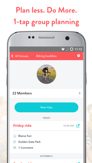 WeVyte Group Invites by Text (Unreleased)- screenshot