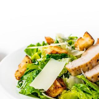 Caesar Salad with Garlic Croutons.