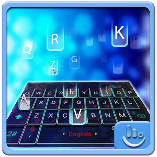 Blue Hologram Keyboard Theme