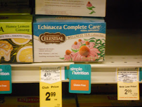 Photo: Tea, my go to when I'm not feeling well. Again had a coupon. The Echinacea Complete Care is a really nice tea, also the Honey Lemon Ginseng Green Tea is good.