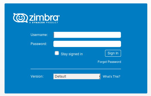 Forgot Password Zimbra Web Client