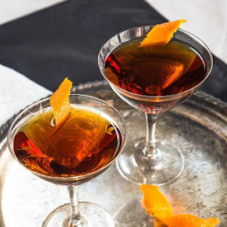 Bootleg Black Gold Whiskey Cocktail.