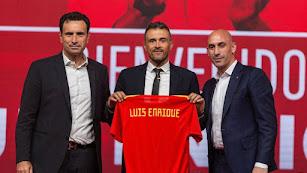 Luis Enrique en la presentación como seleccionador español.