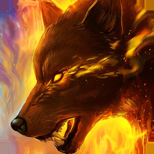 Fiery wolf live wallpaper