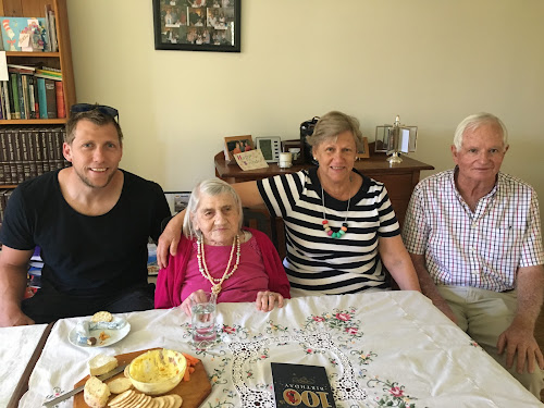 HAPPY BIRTHDAY: Rose McNamara, second from left, on the day of her 103rd birthday with grandson James Middleton, daughter Rose-Mary Knight and son-in-law Alan Knight.
