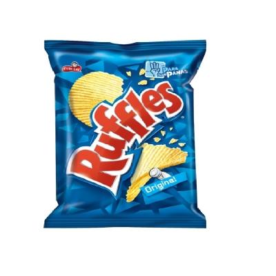 snack ruffles natural 125gr