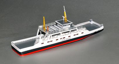 Photo: Amrum Island Car Ferry in Z Scale--StBd Stern