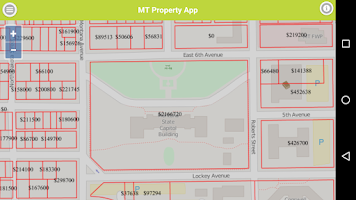 Screenshot of Montana Parcel App