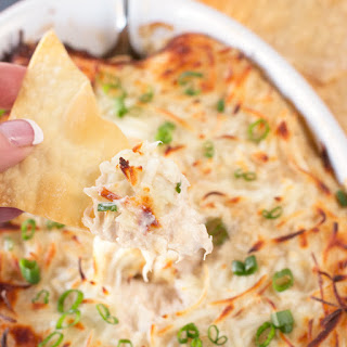Crab Rangoon Dip with Crispy Won Ton Chips