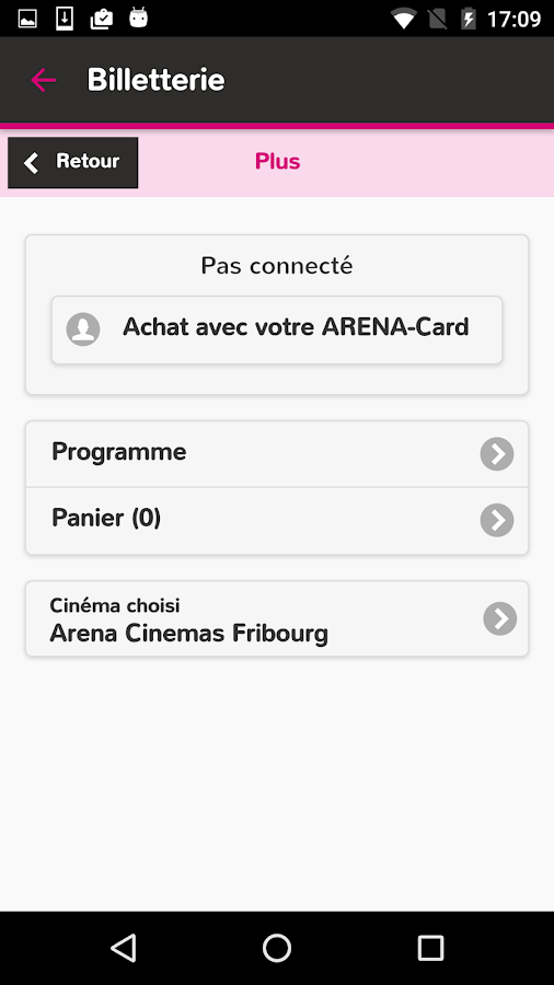Arena Cinemas- screenshot
