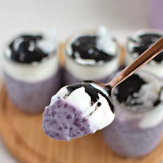 Purple Sweet Potato Tapioca Pudding.