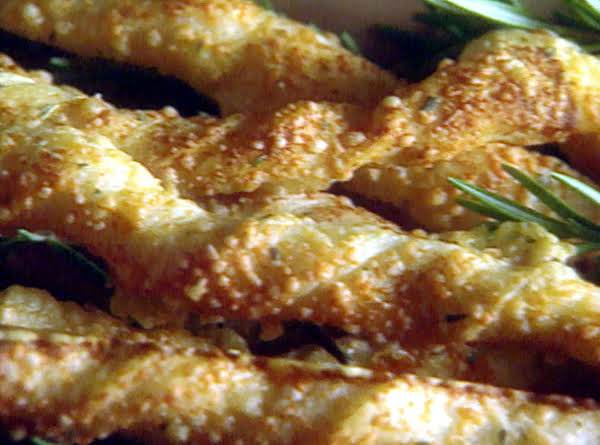 Cheese And Rosemary Breadsticks