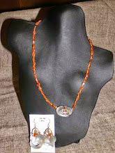 Photo: <BEREHYNYA> {Great Goddess Protectress} unique one-of-a-kind statement jewellery by Luba Bilash ART & ADORNMENT  Shell, carnelian, silver plate, sterling silver SOLD/ПРОДАНИЙ